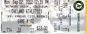 A's Ticket Stub