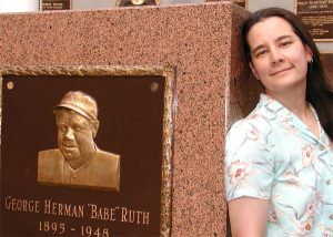 Author Cecilia Tan with Babe Ruth