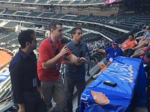 The Mets broadcasters addressing the SABR 47 crowd at our pregame ballpark session at Citi Field. Photo by Jacob Pomrenke.